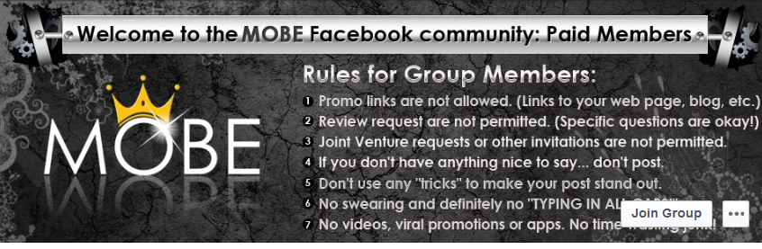 MOBE review Facebook community
