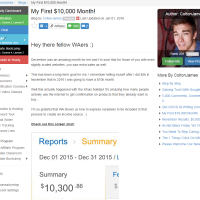 "Wealthy Affiliate – Success Story ""My First $10,000 month"""
