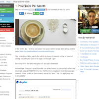 "Wealthy Affiliate – Success story ""One Post $300 Per Month"""