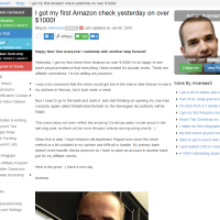 "Wealthy Affiliate – Success story ""..first Amazon check over $1000!"""