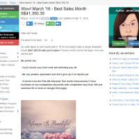 "Wealthy Affiliate – Success story ""Best Sales Month $41.350.30"""