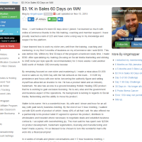 "Wealthy Affiliate – Success story ""$3.1K in Sales 60 Days on WA!"""